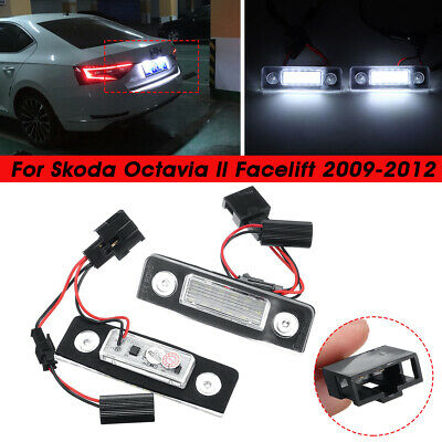 2x LED Number License Plate Light Lamp for Skoda Octavia Roomster 5J Error Free
