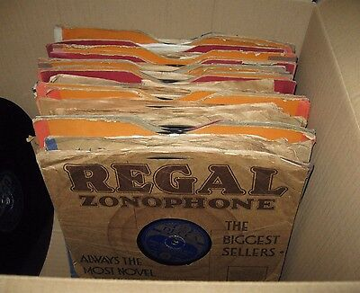 """Large Collection of 50x Various 10"""" 78RPM Gramophone Records"""