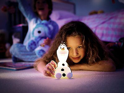 Philips Disney Frozen Olaf Softpal Guided Night Light And Table LED Lamp 1 X 1 W
