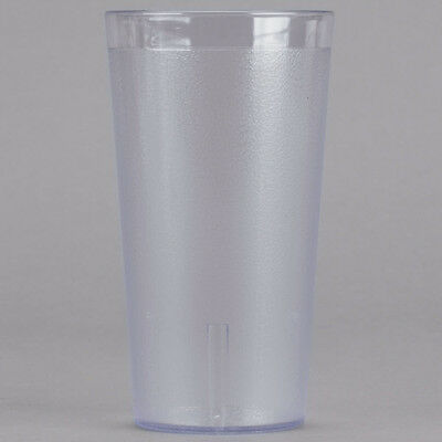 (48-Pack) 16 oz. Clear Round Pebbled Plastic Restaurant Drinking Glass Tumblers