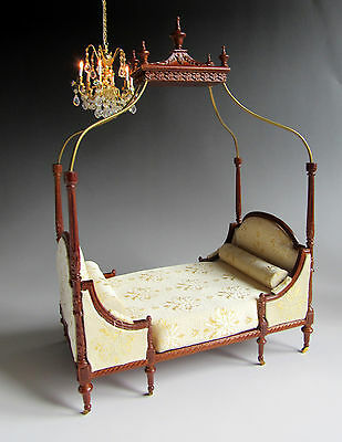 SPECIAL OFFER 1:12th Scale ~ BESPAQ ~ GRAND DUCHESSE BED ~ for DOLLS HOUSE