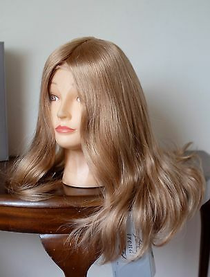 100% human hair mono wig Amber by Trendco in mid blonde new