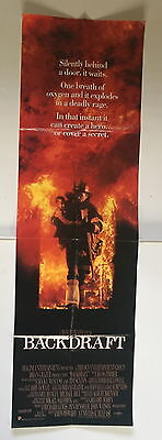Original Film Movie Poster Backdraft 60 By 18 Inch Door Panel Style 1991 Gc