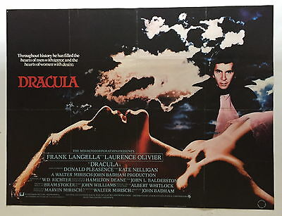 Original Uk Quad Film Movie Poster Dracula 1979 30 By 40 Inch ~ Good Condition