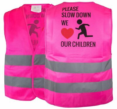 Kids Safety Vest,Security Hi-Visibility Reflective Vest,Running,Pink -KIDS777S