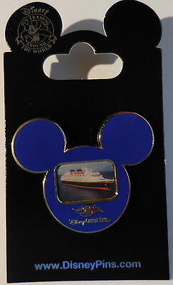 Disney Pin DCL Mickey Mouse Head With Ship Pin