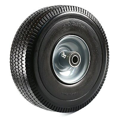"""NK 10"""" Heavy Duty Solid Rubber Flat Free Tubeless Hand Truck/Utility Tire"""