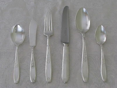 AMBASSADOR 1847 Rogers silverplate 34pc COMPLETE SET for 8 forks, knives, spoons