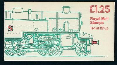 GB BKLT £1.25.RAILWAY ENGINES -LMS CLASS 4P- FK6A (36p) RIGHT MARGIN