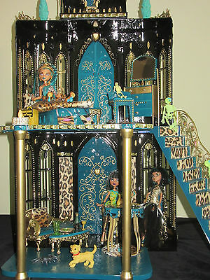 "Monster High Schloss Nefera Cleo de Nile ""UNIKAT"" Haus Villa Ägypten Barbie!"