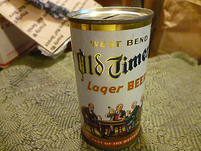 Very Clean West Bend Old Timers Lager flat top Beer can Bank