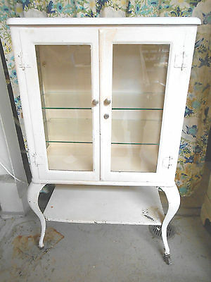 Antique Early 1900s Scanlan Morris Co. Medical Dentist Pharmaceutical Cabinet