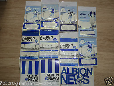 WBA  Home Programmes  1960's   UPDATED 27/5/17 Select from list