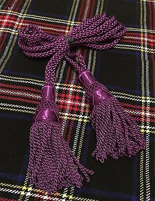 Great Highland Bagpipe Silk Drone Cord Purple/scottish Bagpipes Drone Cords