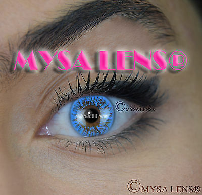 Colored Contact Lenses Kontaktlinsen Blue S1-023 Lens Color 1 Year MYSA LENS