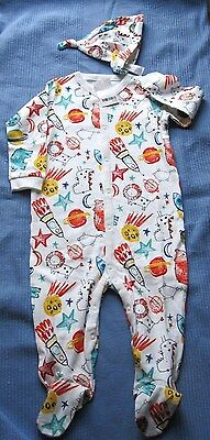 NEXT Space Sleepsuit Set - glows in the dark- 18-24 months BNWT