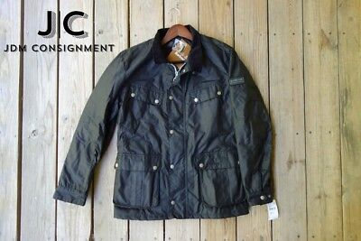 NEW Barbour International Duke Wax Jacket Black, size Medium