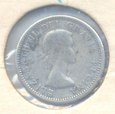 1955 Canadian SILVER DIME Canada 10 Ten Cent one coin