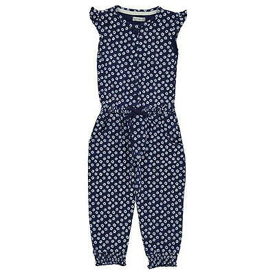 * Crafted *  Overall Jumpsuit Floral Flower Blumen blau  w. Next Englandmode