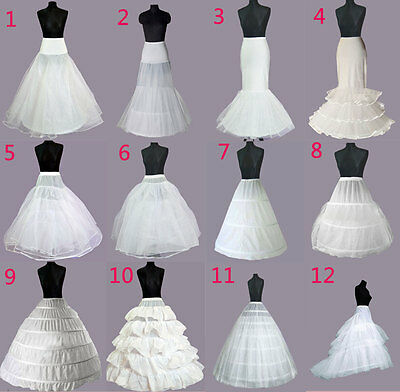 UK Mariage Noces Robe Jupon Fête Scolaire Hoops Sous-Jupe Crinoline Grand Taille