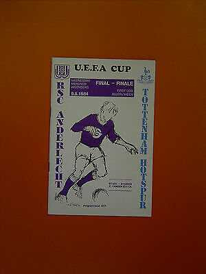 UEFA Cup Final First Leg - Anderlecht v Tottenham Hotspur - 9th May 1984