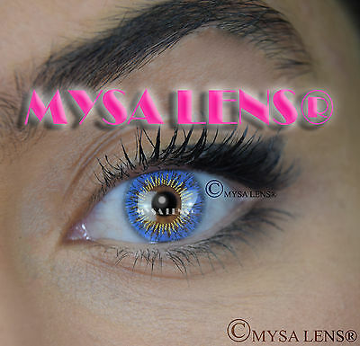 Colored Contact Lenses Kontaktlinsen Blue S3-328 Lens Color 1 Year MYSA LENS