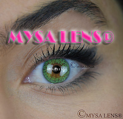 Colored Contact Lenses Kontaktlinsen Green S2-255 Lens Color 1 Year MYSA LENS