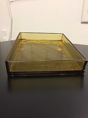 Vintage CLARKS TEABERRY Rare Amber Countertop Tray Glass Gum Display