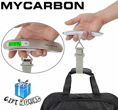 MYCARBON Portable Digital Luggage Scale Travel Suitcase Electronic Hanging Scale