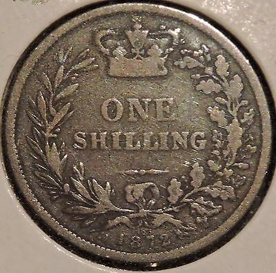 British Silver Shilling - 1872 Die #103 - Queen Victoria - $1 Unlimited Shipping