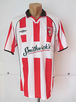 Derry City Fc Northern Ireland 2003/2004 Home Football Shirt Jersey Umbro Size L