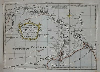 India - A New And Accurate Map Bengal Of By T. Kitchin, Circa 1760.