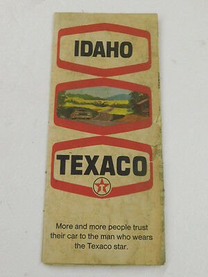 vtg TEXACO Idaho ROAD MAP - 1970 - Gas & Oil Company