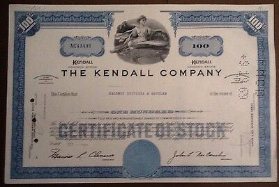 Historische Aktie - The Kendall Company 196_er (100 Shares)