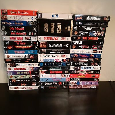 Lot of VHS Movies Including Star Wars Trilogy