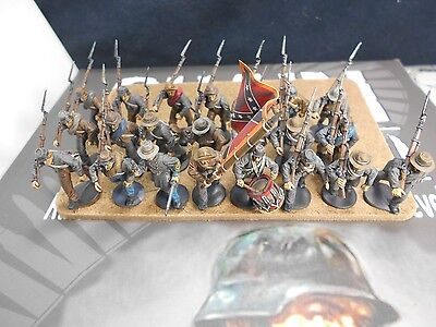 28mm Painted Perry Miniatures Confederate Infantry ACW American Civil War