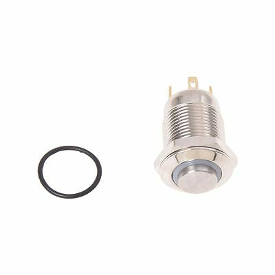 3V Push Button Switch Doorbell Button Blue LED 12 mm Silver B1W9