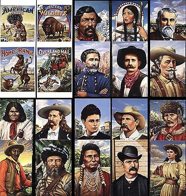 20 USA SCOTT #UX178-UX197 LEGENDS OF THE WEST POSTAL CARDS w Postage Stamps MINT