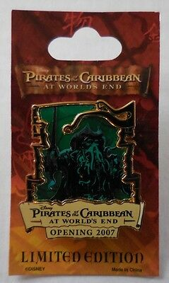 Disney Pin Pirates of the Caribbean At World's End Countdown #4 - Davy Jones LE