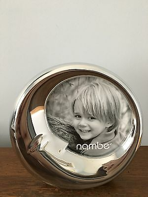 Baby Nambe Moon Sleep Picture Frame New in Box
