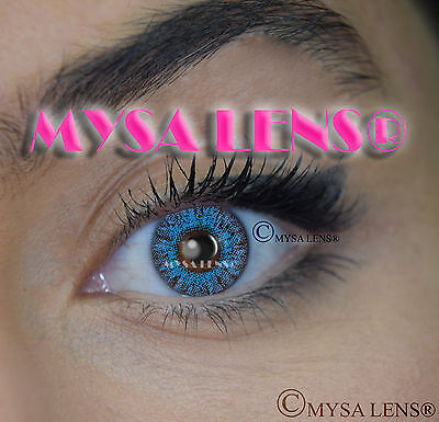 Colored Contact Lenses Kontaktlinsen Blue S3-541 Lens Color 1 Year MYSA LENS