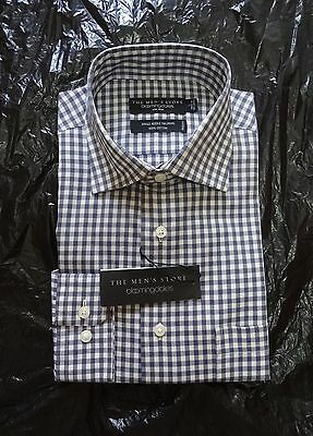 Brand New Bloomingdale's Men Sports Shirt - Non Iron! - Navy - Size L