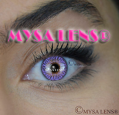 Colored Contact Lenses Kontaktlinsen Violet S3-324 Lens Color 1 Year MYSA LENS