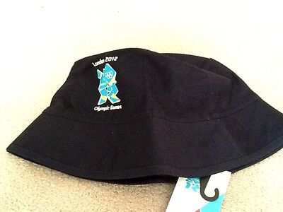 Official London 2012 Olympics Bucket Hat  - navy blue with Olympic logo - BNWT