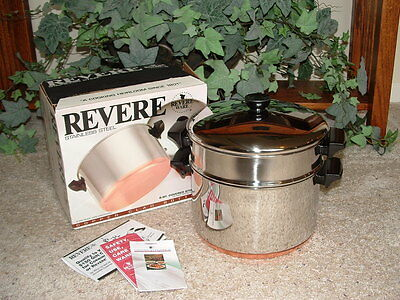 Vintage NOS Revere Ware 4 Quart Deluxe Covered Steamer Inset *NEW*