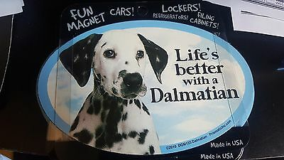 Life's Better with a Dalmatian - Oval Magnet, Car Magnet, Euro Magnet, USA Made