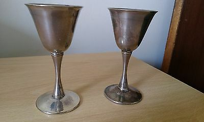 small silver plated goblets