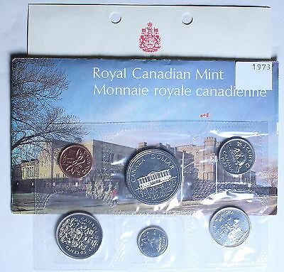 Canada 1973 Uncirculated Mint Set - Small Bust - with Envelope and COA 2