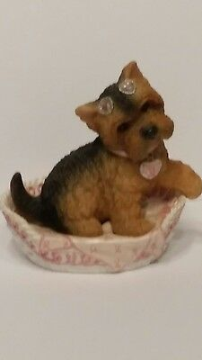 """Pause for the Cause Collections """"Hope Bow Wow and Forever Yorkie Figurine"""