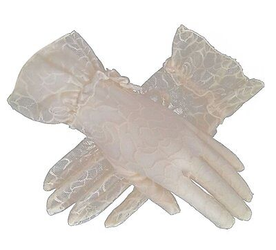 Womens Bridal Wedding Lace Gloves Derby Tea Party Gloves Victorian Gothic #1OX